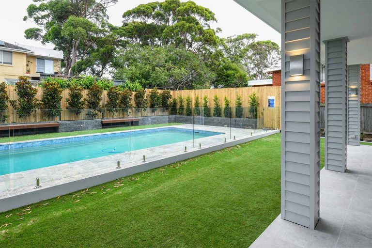 Renovations to the existing pool and its surrounds included a new glass balustrade.