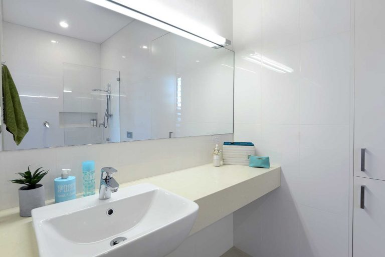 The en suite is one of four bathrooms in the extended and renovated Collaroy residence.