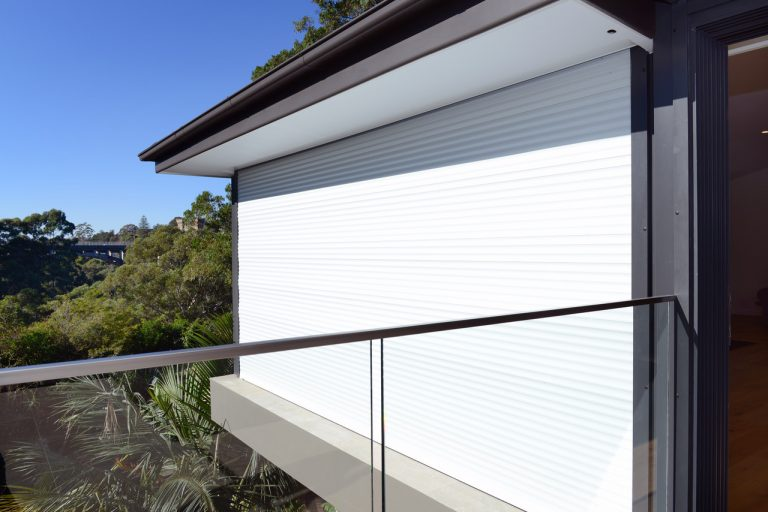 Due to the high fire risk zoning of the Naremburn residence, fire shutters were installed on the outside of the extensions.