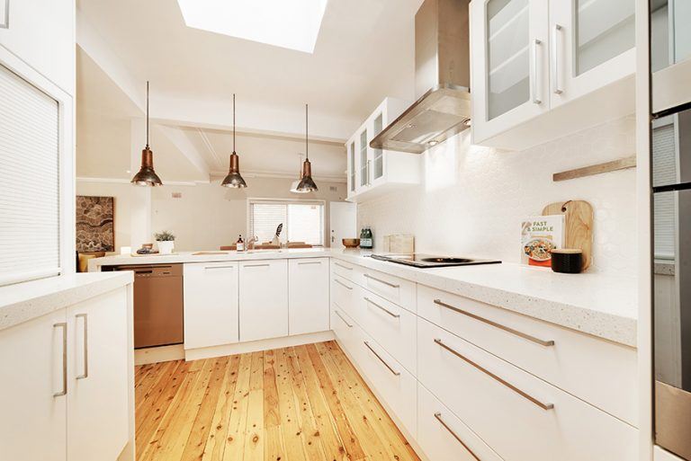Castlecrag New Kitchen with pendant lights